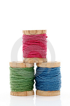Spool Of Threads Royalty Free Stock Photos - Image: 21045078