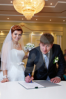 Solemn Registration Of Marriage Royalty Free Stock Image - Image: 21045506