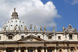 The Roof Of St Peters Basilica, The Vatican Stock Images - Image: 21047204