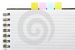 Blank Spiral Book With Note Paper Royalty Free Stock Photos - Image: 21050888