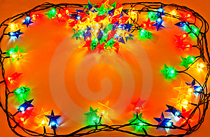 Garland Of Colored Lights For Christmas Trees Stock Photography - Image: 21055712