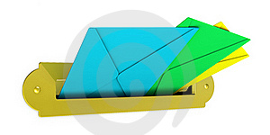 Mailbox With Envelopes Stock Image - Image: 21060981