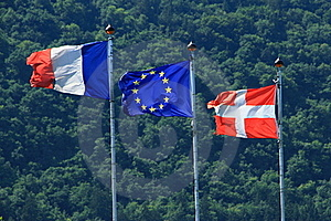 France Evropenian Union Savoy Flags Royalty Free Stock Photography - Image: 21063977