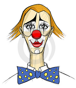 Clown In The Style Of Bernard Buffet Stock Photography - Image: 21064492