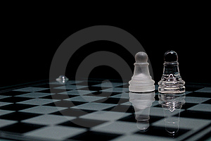 Pawns On Chessboard Royalty Free Stock Photography - Image: 21064557