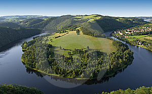 Vltava River - Horsheshoe Royalty Free Stock Images - Image: 21073419