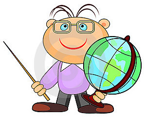 Man With Globe Royalty Free Stock Image - Image: 21085036