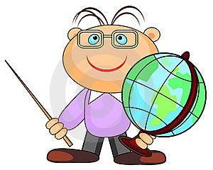 Man With Globe Royalty Free Stock Image - Image: 21085036