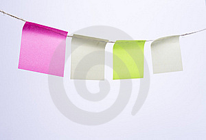 Multi Colored Post-it Note Paper Stock Images - Image: 21087534