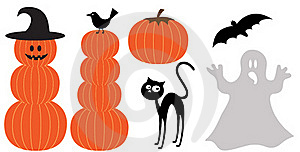 Set Of Halloween Design Elements Royalty Free Stock Images - Image: 21089679