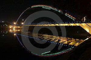 Night Arc Bridge Royalty Free Stock Photography - Image: 21094377
