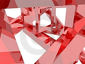 Geometry Composition In Red Stock Photo - Image: 21095330