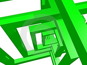 Geometry Composition In Green Stock Photo - Image: 21096780