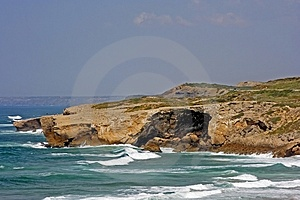 Rock At The Coast In Portugal Stock Photos - Image: 2117663