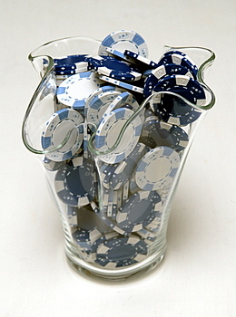 Poker Chips In A Vase Royalty Free Stock Photography - Image: 2118117
