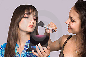 Two Girls Making Up Royalty Free Stock Photo - Image: 21100335