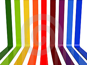 3d Rainbow Lines Royalty Free Stock Photos - Image: 21100598