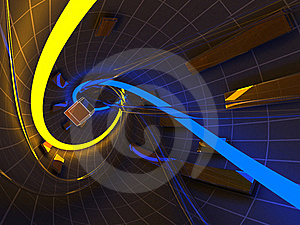 Abstract Futuristic Tunnel Stock Photo - Image: 21100750