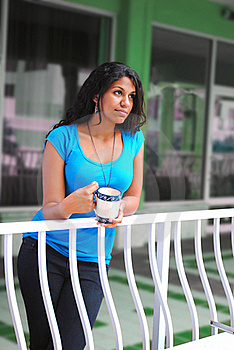 Beautiful Woman Drinking Coffee In The Morning Stock Images - Image: 21104004