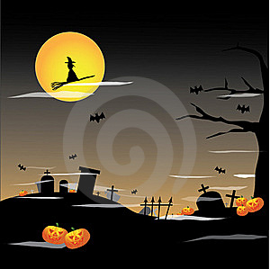 Halloween Full Moon Background Royalty Free Stock Photos - Image: 21104828
