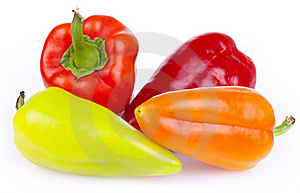 Fresh Bitter And Sweet Pepper Royalty Free Stock Photo - Image: 21105495