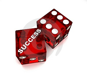 Dice-Success Royalty Free Stock Photos - Image: 21106548