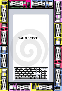 Frame For Text Made Of Keyboards Stock Photography - Image: 21106712