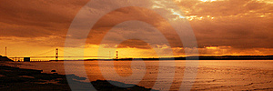 Sunset Over The River Royalty Free Stock Images - Image: 21107419