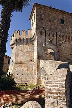 Castle Of Corinaldo Royalty Free Stock Photo - Image: 21107475
