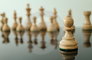 Pawn In Front Royalty Free Stock Photo - Image: 21108215