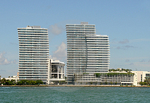 Waterfront Apartments In Miami Royalty Free Stock Image - Image: 21109306