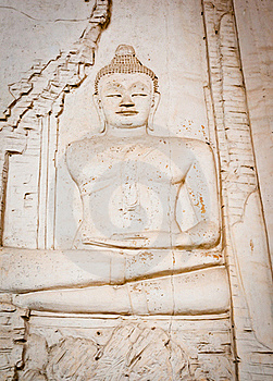 Buddha On The Wall Royalty Free Stock Photos - Image: 21109498