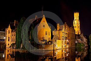 Medieval Centre Of Bruges Royalty Free Stock Photo - Image: 21110325