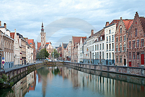 Medieval Centre Of Bruges Stock Photo - Image: 21110350