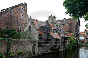 Medieval Centre Of Bruges Stock Photography - Image: 21110402