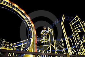 Rollercoaster Framework Stock Photo - Image: 21110900