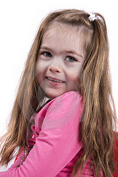 Pretty Young Girl Smiling Stock Photography - Image: 21111482