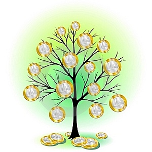Euro Currency Tree Stock Image - Image: 21112631