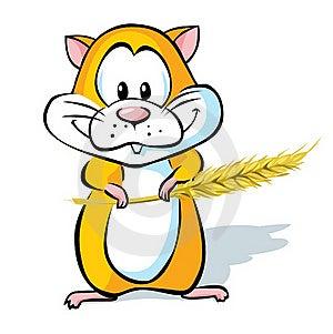 Hamster Hold Wheat Ear Stock Photos - Image: 21119403
