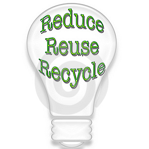 Light Bulb With Recycle Theme Stock Photo - Image: 21125350