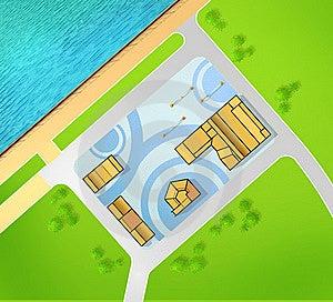 Scheme Of Recreational Area Stock Photos - Image: 21128753