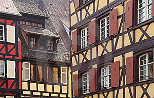 Elzassische Architecturale Samenvatting Royalty-vrije Stock Afbeeldingen - Afbeelding: 21130109