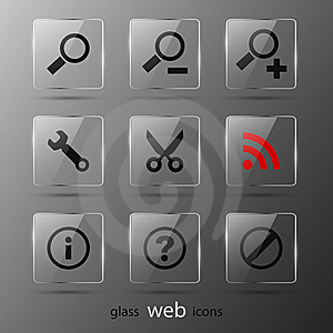 Set Of Web Icons Royalty Free Stock Image - Image: 21132286