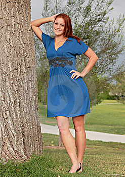 Pretty Woman In Park Royalty Free Stock Photo - Image: 21137185