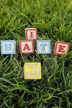 I Hate U Stock Photography - Image: 21140752