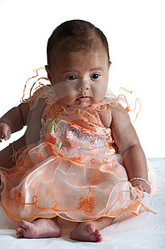 Baby In Cute Dress Royalty Free Stock Photo - Image: 21154465