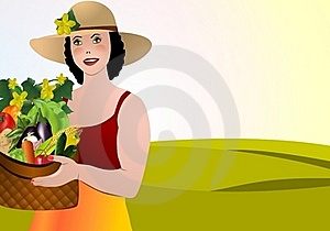 Harvest Day, Cdr Vector Royalty Free Stock Photo - Image: 21165055