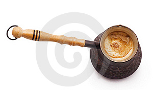 Old Coffee Pot With Coffee Stock Photos - Image: 21166733