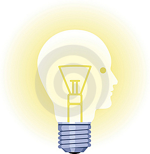 Lightbulb Face Royalty Free Stock Image - Image: 21168496