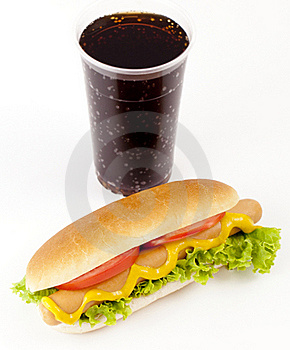 Hot Dog And Drink Stock Images - Image: 21172624